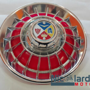 """Coppa ruota 8"""" in ferro  cromata-rossa"""