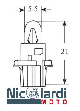 Lampada 12V - 1,2W Dashboard (C10)