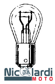 Lampada biluce 6V - 3/15W BAY15D