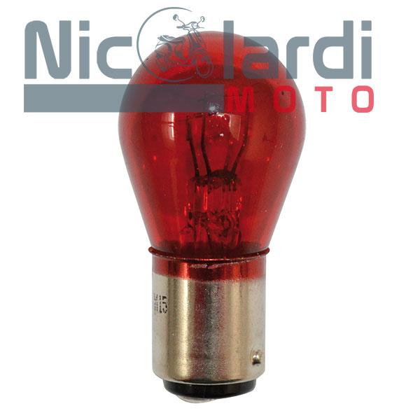 Lampada biluce rossa 12V-5/21W BAY15D (C10)