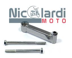 Supporto specchio cromato Ø10mm Lambretta LI 2°-3° serie