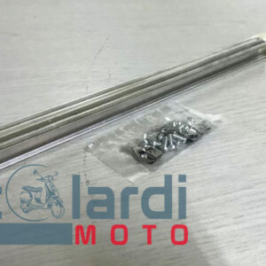 Kit listelli pedana (4pz) Lambretta 20-100-125 Junior / 50 De Luxe-Special