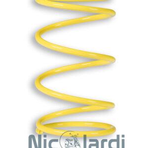 Molla contrasto variatore gialla Malossi Aprilia-Piaggio-Gilera-Malaguti 125-250-300cc