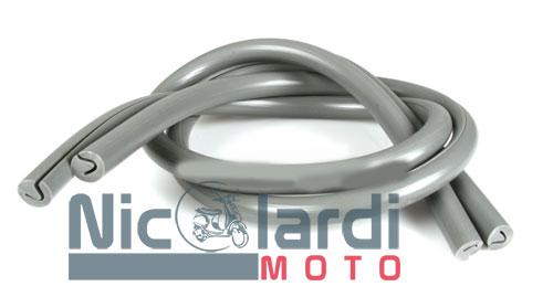 Coppia profili bordo scudo grigi Lambretta LI 125cc