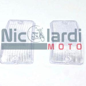 Coppia vetri frecce anteriori bianche Vespa PK XL-PK XL Plurimatic-PK XL Rush 50cc - PK XL 125cc