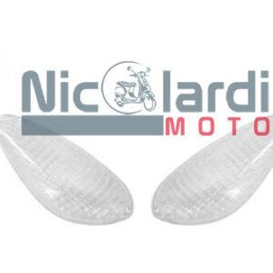 Coppia vetri frecce posteriori bianche Piaggio NRG MC2 50cc