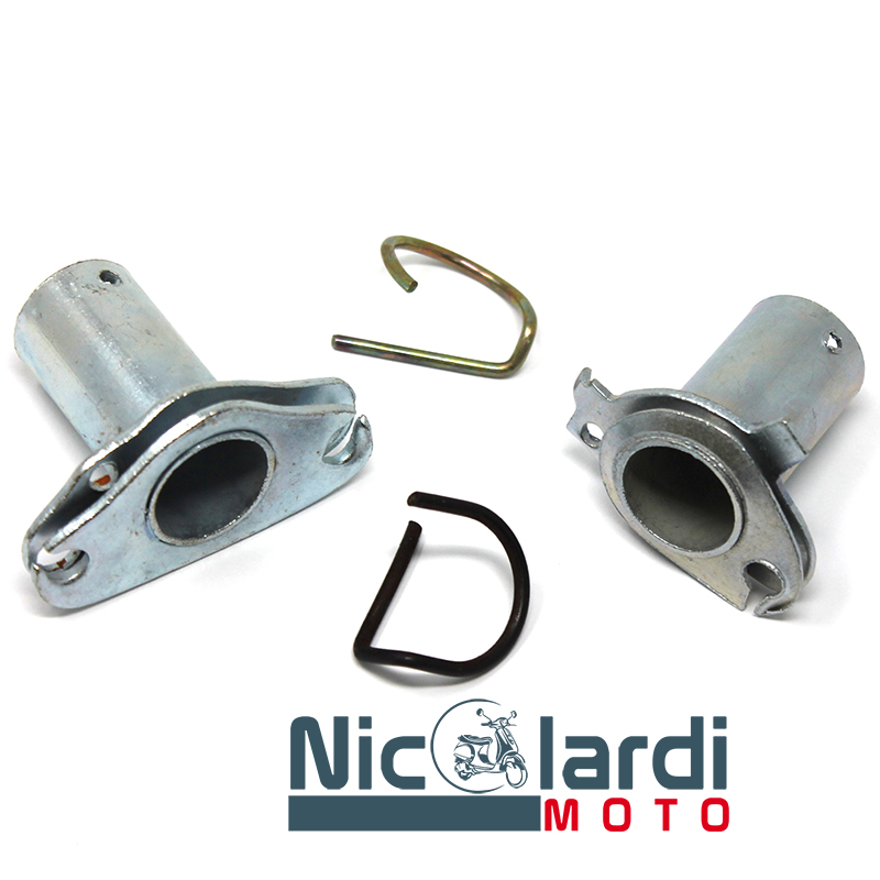 Coppia tubo puleggie per supporto cavi comando cambio e gas Vespa 50 - 90cc - Vespa Primavera - ET3 125cc vecchi modelli