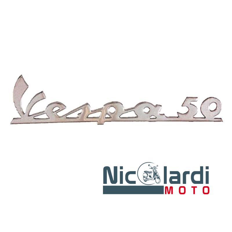 """Targhetta scudo anteriore scritta """"Vespa 50"""" - Vespa L 50cc"""
