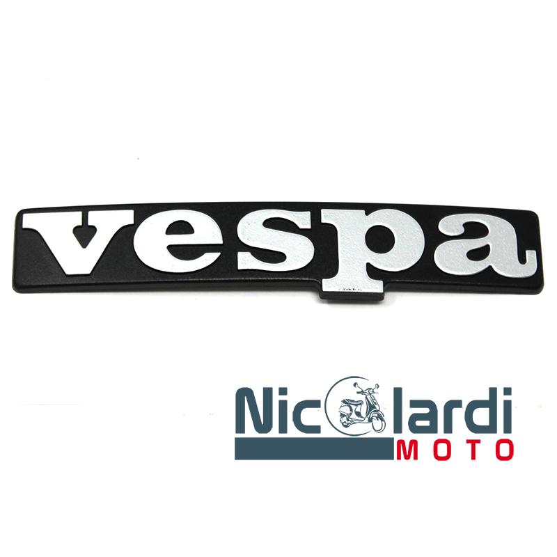 """Targhetta anteriore Piaggio scritta """"Vespa"""" - Vespa PX Arcobaleno - T5 125cc"""
