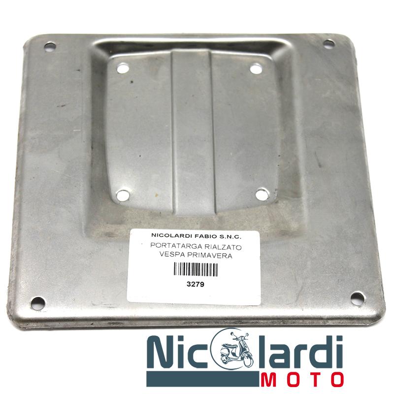 Porta targa rialzato in ferro Vespa 50 - 125cc Primavera - ET3