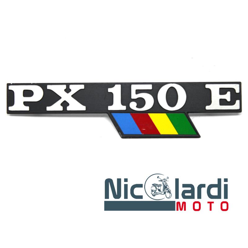 """Targhetta laterale scritta """"PX 150 E"""" - Vespa PX E  Arcobaleno 150cc"""