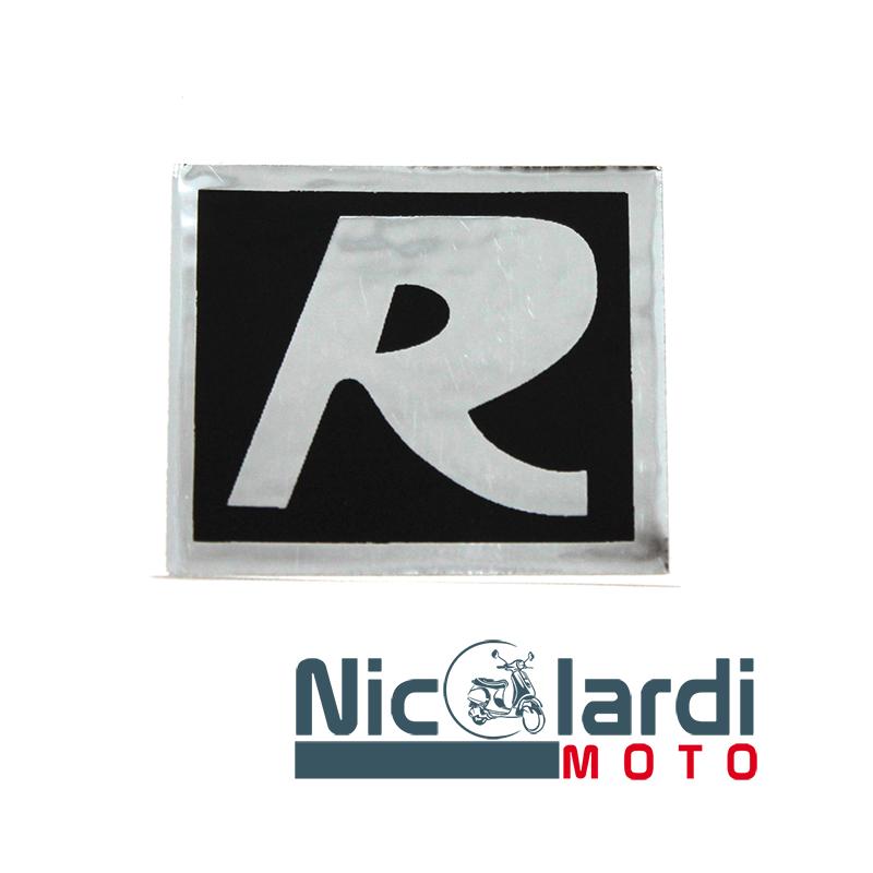 """Targhetta adesiva posteriore scritta """"R"""" - Vespa R 50cc - Ciao R 50cc"""