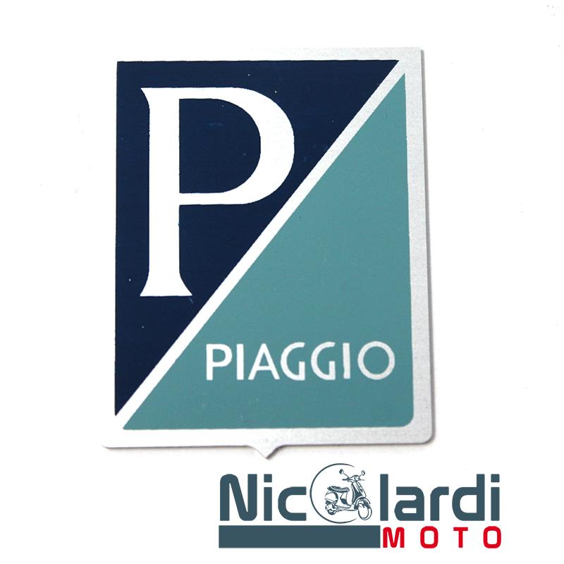 """Scudetto adesivo """"Piaggio"""" in alluminio - Vespa VNB1T>6T - VNA1T>2T 125cc"""