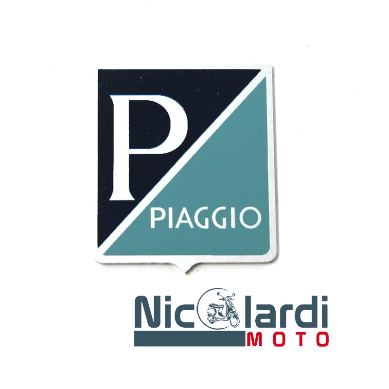 """Scudetto adesivo """"Piaggio"""" in alluminio - Vespa 50cc 1963>1967"""