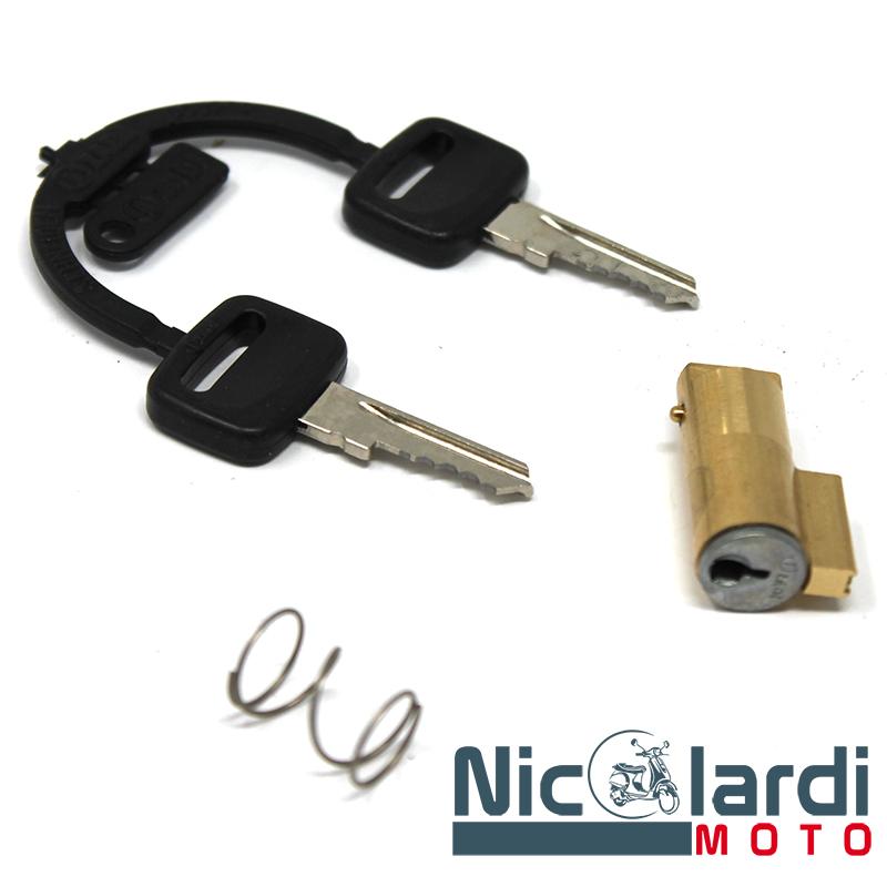 Serratura bloccasterzo tipo corto/sottile chiave nera Vespa 50 - 125cc